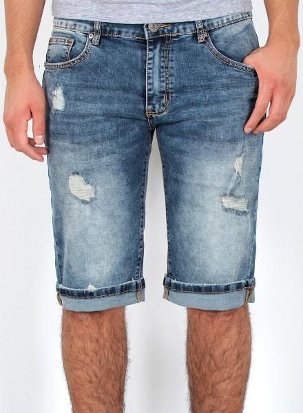 Herren Jeans Shorts Kurze Bermuda Shorts Used Look Kurze Hose Basic