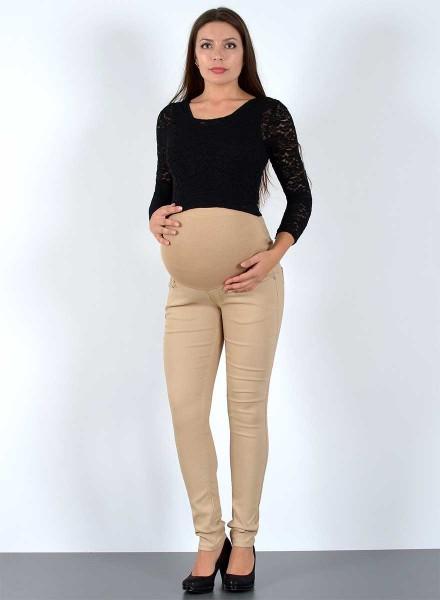 Damen Skinny Umstandshose Schwangerschaftshose