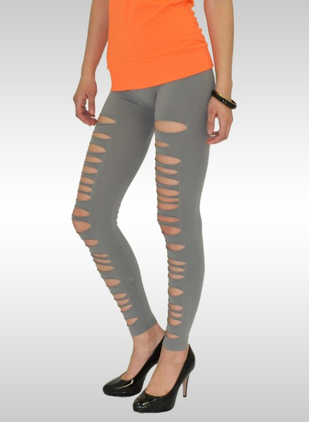 Damen Risse Leggings