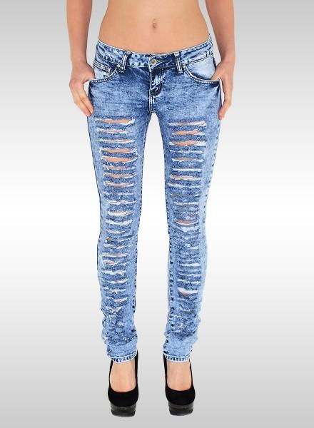 Damen Röhren Jeans mit Risse