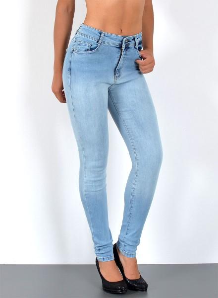 Damen Skinny Hochbund Jeans bis Übergröße