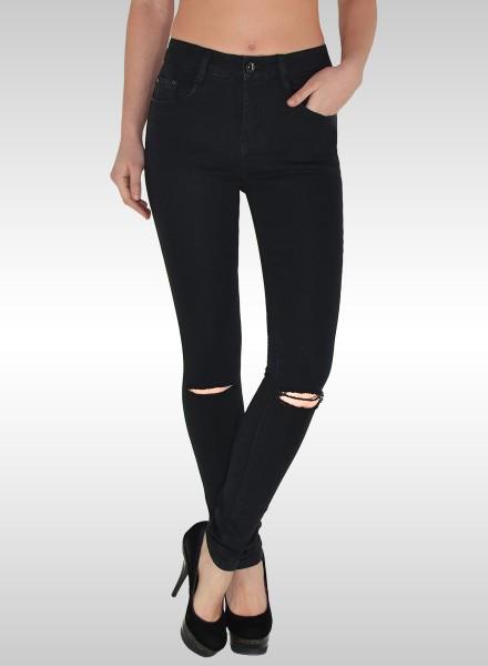 fb2ffa1da606e4 Damen Skinny High Waist Jeans mit Riss in großen Größen, bayramo ...