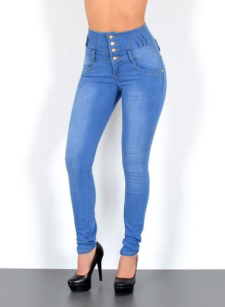 3ba7ce39e7e1 Hochbund Jeans Hose, bayramo   bayramo Onlineshop