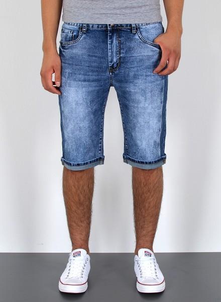 Herren kurze Basic Jeans Shorts