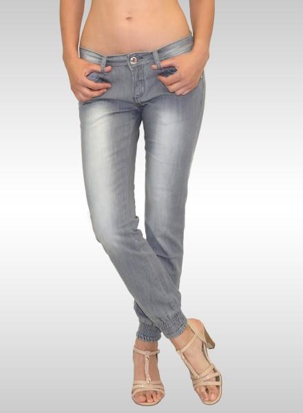 Damen Jeans Pumphose grau
