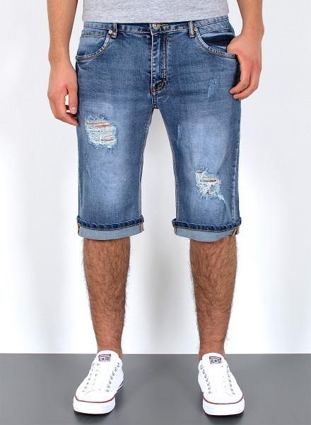 Herren Jeans kurze Shorts mit Risse bis Übergröße