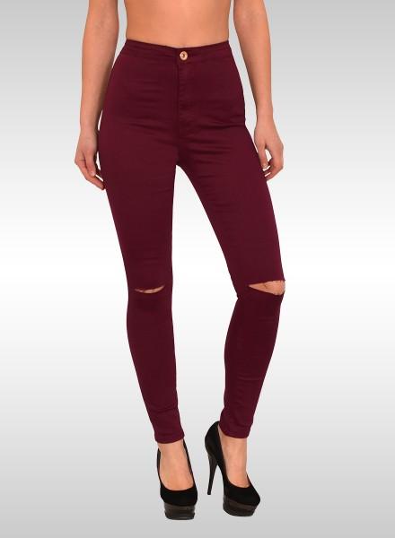 jeans damen bordeaux