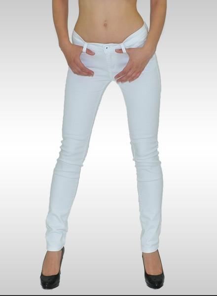 Damen Slim Fit Jeans Hose bis Übergröße