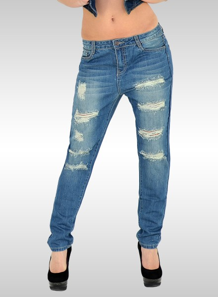 Destroyed Look Boyfriend Jeans
