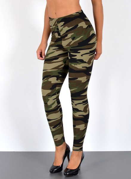Damen Army Leggings