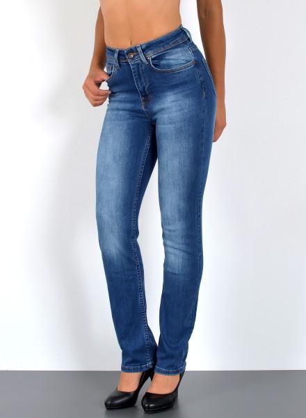 ESRA - Damen Straight Fit Jeans Hose