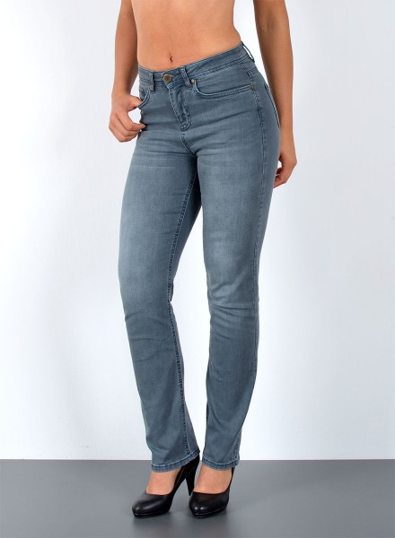 Damen Straight Fit Jeans Petrol