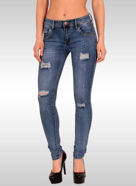 Damen Jeans mit Rissen bis Übergröße