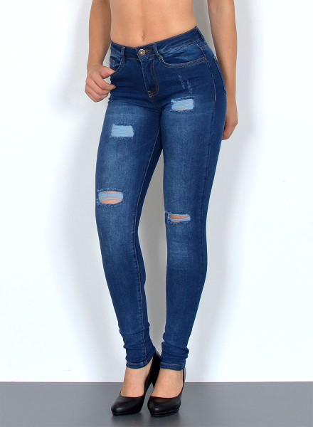 Damen Skinny Jeans mit Rissen