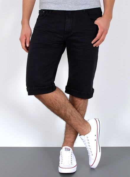 dfe0473731ab0 Herren kurze Basic Jeans Shorts große Größen