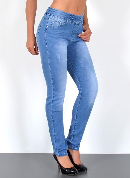 Damen Jeans Slim Fit mit Gummibund bis Übergröße