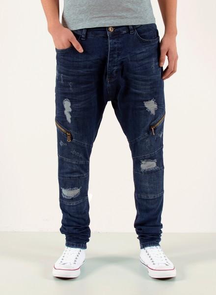 Herren Baggy Jeans mit Zipper