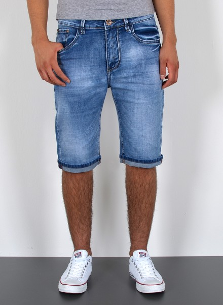 Herren kurze Jeans Shorts bis Übergröße