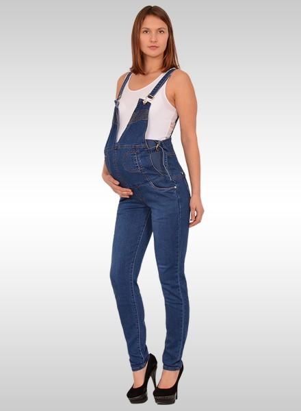 Damen Jeans Latzhose für Schwangere