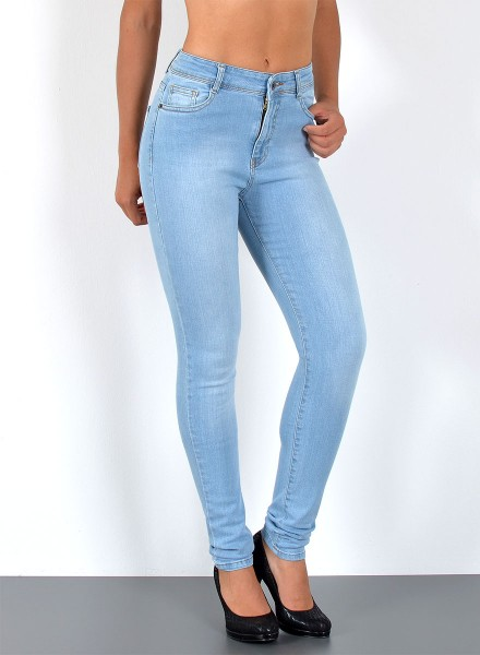 Damen Skinny Hochbund Jeans große Größen