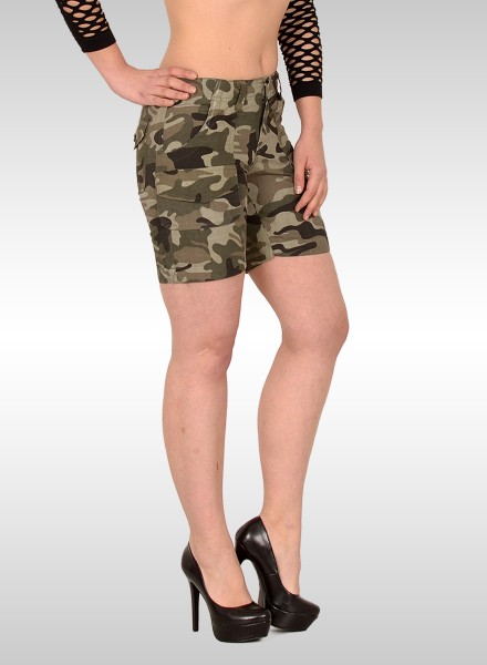 Damen Military Look kurze Shorts