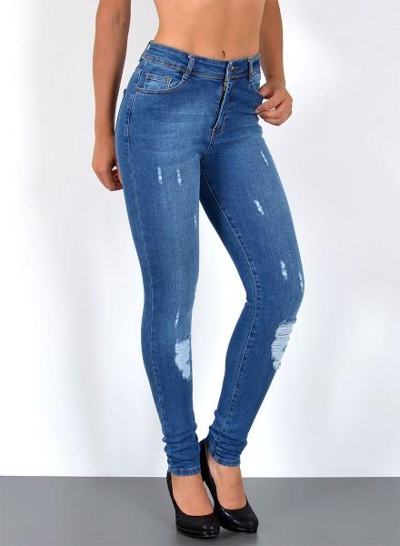 Damen Jeans mit Risse große Größen