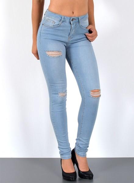 Damen Skinny Jeans Destroyed Look bis Übergröße