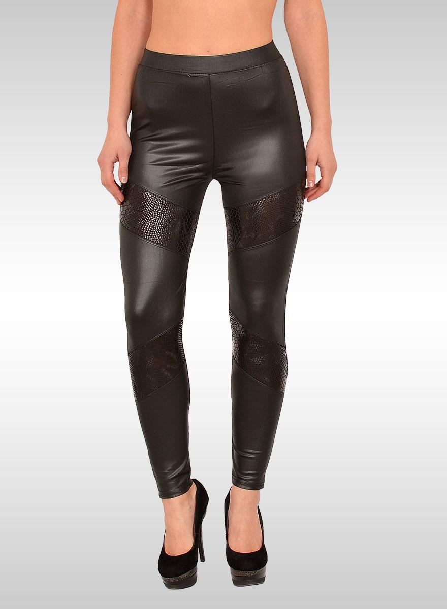 damen lederlook leggings damen wet look leggings bayramo bayramo onlineshop. Black Bedroom Furniture Sets. Home Design Ideas
