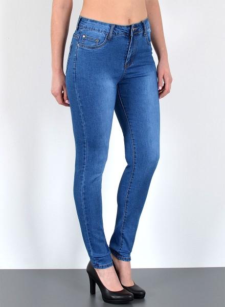 Damen Skinny High Waist Jeans große Größen