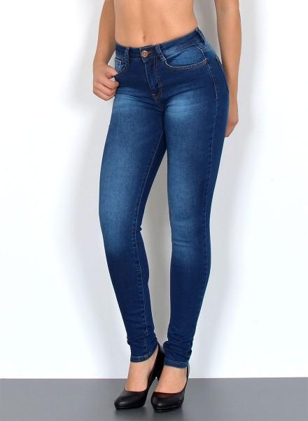 Esra Skinny Jeans mit hohem Bund