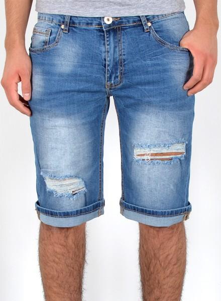 Herren kurze Risse Jeans Shorts große Größen