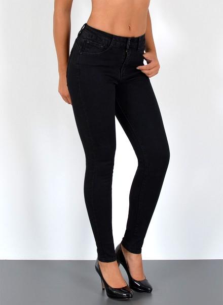 Damen Skinny Jeans Hose bis Übergröße