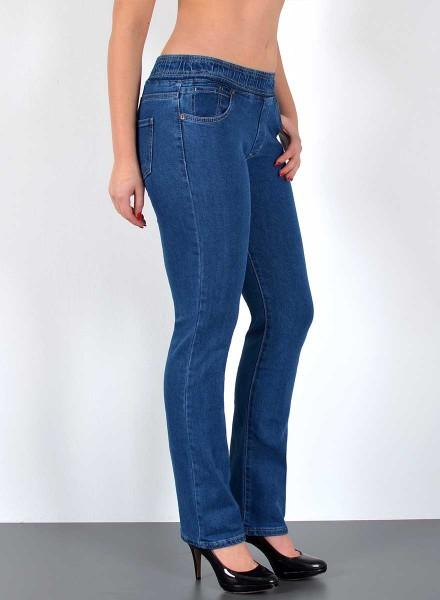 29629bc30088ad Damen Straight Fit Jeans mit Gummibund, bayramo | bayramo Onlineshop