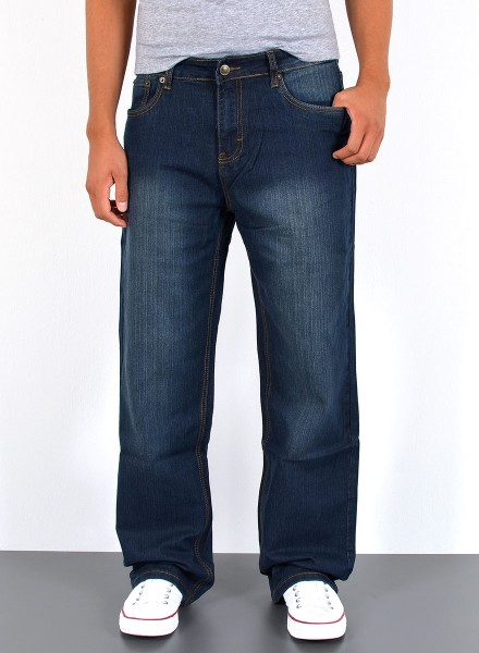 Herren Basic Straight Fit Jeans