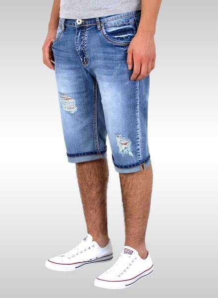 Herren kurze Jeans Shorts mit Risse große Größen