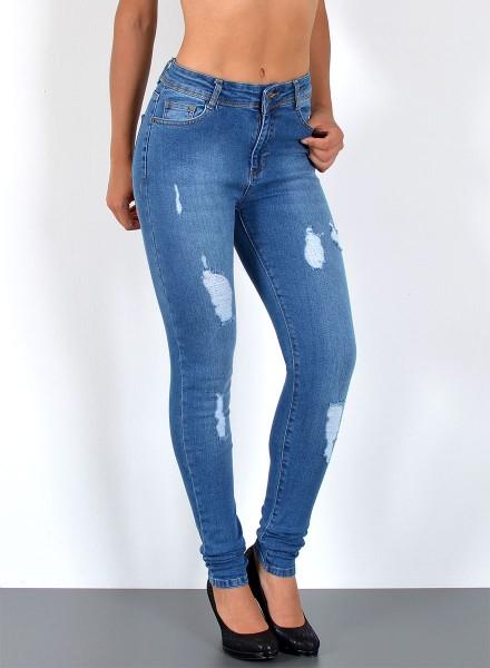 ESRA Damen Jeans mit Risse bis Übergröße