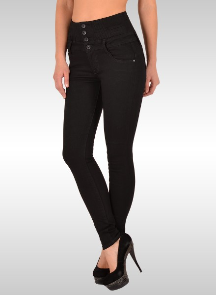 ESRA Damen High Waist Skinny Jeans