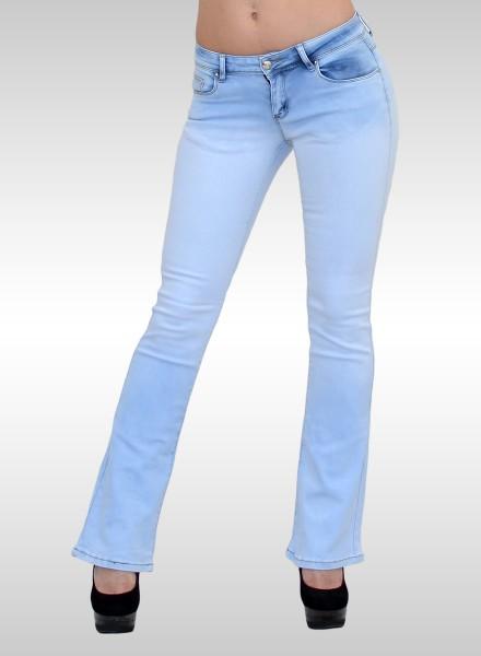ESRA Damen Bootcut Jeans Hose