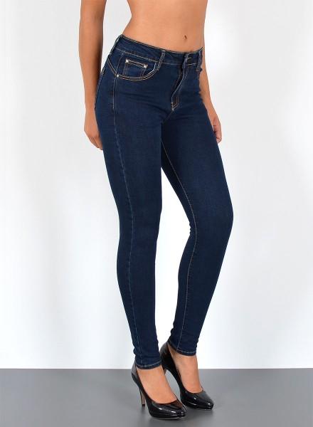 ESRA Damen Skinny Jeans Pushup bis Übergröße