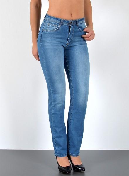 ESRA Damen Jeans Straight Fit große Größen