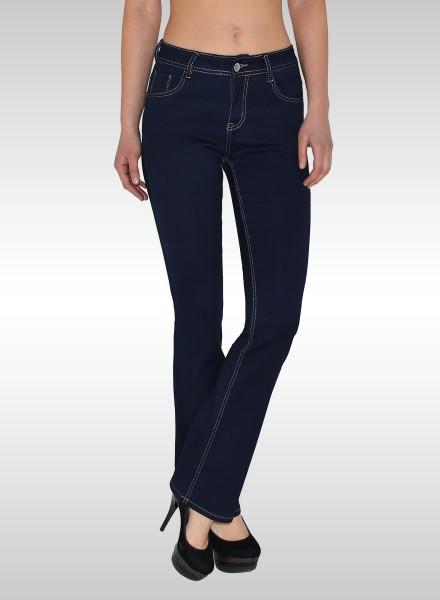 1720c338e770 Damen Jeans Bootcut dunkelblau