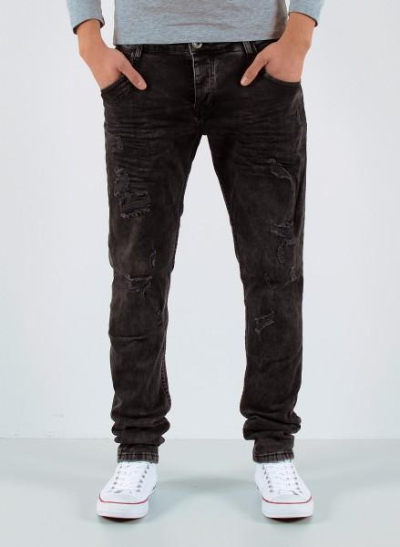 Herren Slim Fit Jeans schwarz