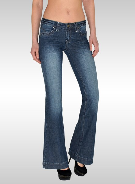 Damen Flared Bootcut Jeans