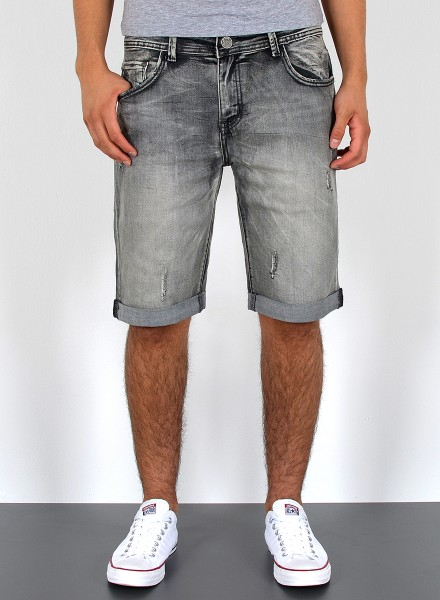 Herren kurze Jeans Shorts Destroyed Look