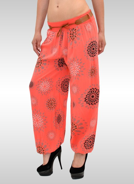 Damen Pumphose Sommerhose mit Muster