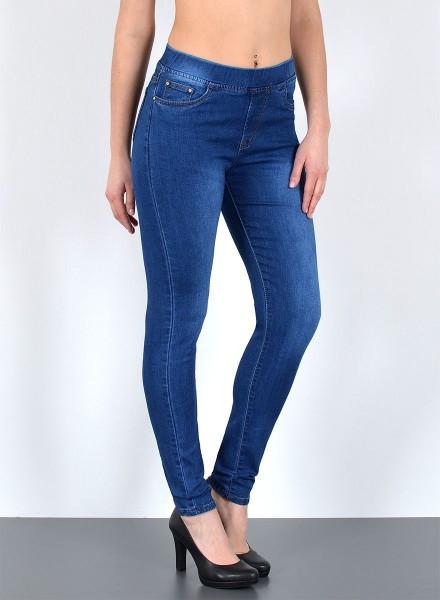 Damen Jeanshose Slim Fit mit Gummibund bis Übergröße