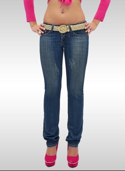 Damen Slim Jeans mit Stickerei