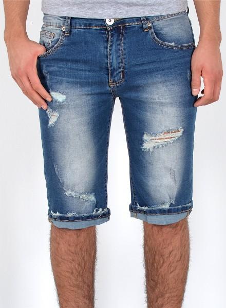 Herren Jeans Shorts Destroyed Look große Größen