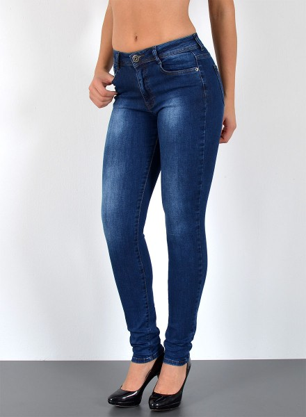 ESRA Damen Curvy Jeans Skinny bis Übergröße