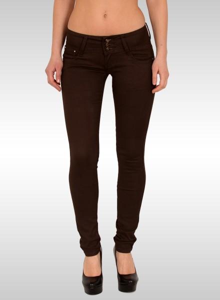 Damen Skinny Jeans braun